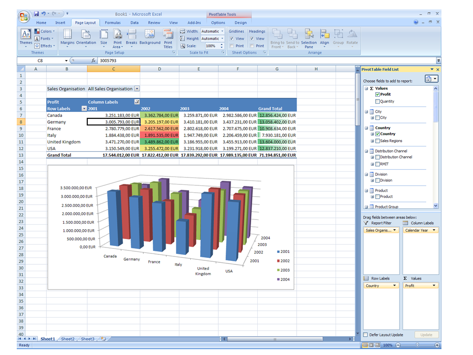 Microsoft Excel 2007 Locate this document in the navigation
